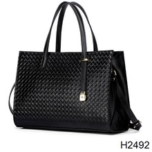 H2492 Weaving grain leather handbag contracted bag ladies handbags