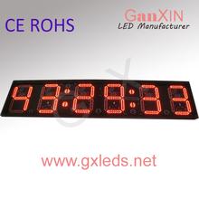Countdown display 12'' 6 digit led digital clock