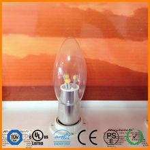 energy saving led candle lighting/e12 e14 led candle bulb 3w dimmable