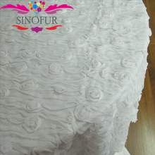 Fashion style rosette satin table cloth