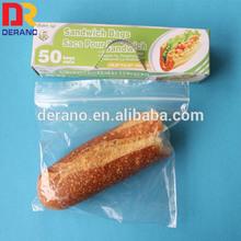 High quality custom ldpe zipper sandwich bags/Plastic sandwich bags