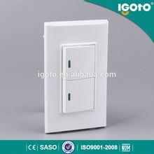 igoto B513 2 gang one way wall electric small switch
