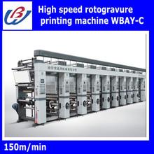 High Speed Rotogravure label Printing Machine