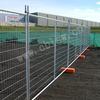 Galvanized steel temporary picket fence
