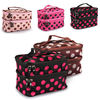 Makeup Hanging Toiletry Travel Wash Zip Organizer Case Cosmetic Dot Bag With Mirror