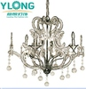 Living room dressing chrome color iron chandelier glass
