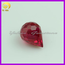 factory price ruby 5# Water drop gemstone or red corundum loose gems for jewelry
