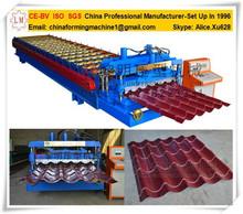 Glazed Tile Production Line Metal Roofing Tile Making Machine Roller Former