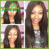 6A grade 100 percent unprocessed wholesale human hair wigs glueless lace front wig with side part style