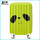 Nwest panda eyes design airport luggage trolley colorful hard shell luggage