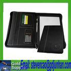 ring file folder 4 d rings / embossed leather business ring binder folder / a4 pu leather portfolio