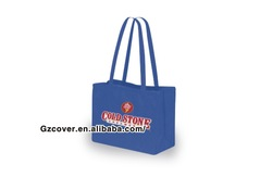 heat transfer dark blue non-woven gift tote bag from guangzhou supplier