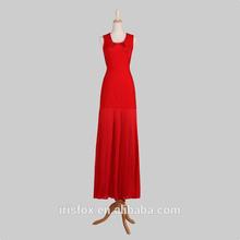 mode 2013 u cou rayonne mélange de rouge robe de cocktail en mousseline de soie