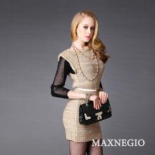 2014 fashion slim fit mature elegant sexy short mini dress