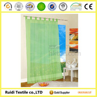 Plain voile window curtain, Voile curtain , Wholesale Voile curtain with 8 loops