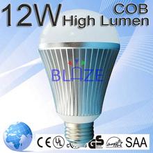 High quality cob led globe light bulbs 12w E27