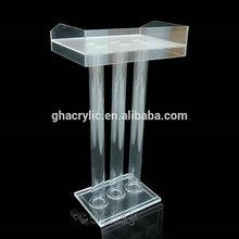 Popular lectern school lectern dais platform rostrum modern design clear glass acrylic lectern podium
