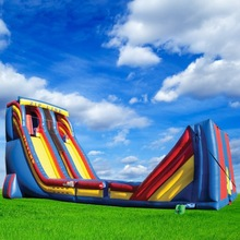 Hot Inflatable Zip Line, Inflatable Slide Combo Games for Sale