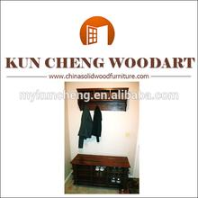 3 Tiers Solid Wood Shoe Storage Rack Walnut Finish/Wooden model of shoe rack