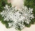 pcs 24 los copos de nieve de navidad ventanas de pared decoraciones colgantes