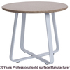 Factory wholesale custom round solid surface marble top table for restaurant