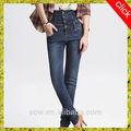 El último 2015 apretado diseño de alta elástico de la cintura niñas pantalones vaqueros pantalones, xxx de fotos sexy damas pantalones vaqueros polainas