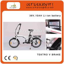 20 inch folding racing electric bike bicycle with mid motor, folding electric bike ZP-TDN05Z