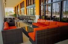 rattan sofa set, 2014 new design hot sale/outdoor sectional sofa