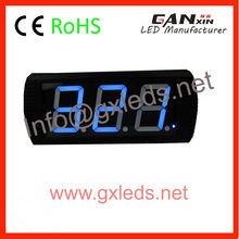 Blue 7segment 3 digit led digital clock