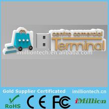 Custom usb center commercial terminal promotional usb pen drive flash memory