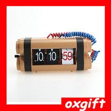 OXGIFT hot sale Robot flip desk clock