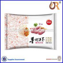 Frozen dumpling packing plastic bag custom and design factory in China