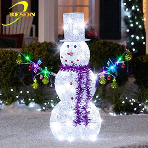Outdoor christmas decoration artificial snowman buy for Angel of the north christmas decoration