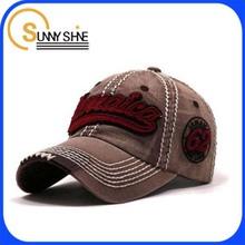 Wholesale custom cheap fancy demin worn-out baseball cap hard hat