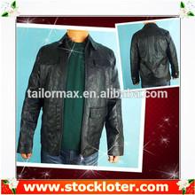 Readymade coat Mens PU Jacket leather coat liquidation, 130906f