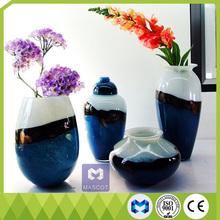 Mediterranean style Home Furnishing art decoration smooth glass vase