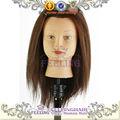 Maniquí de cabeza/pelo natural de la cabeza de formación/peluquería de maniquí de muñeca