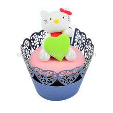 Heart Shape Laser Cut Paper Cupcake Wrapper Cupcake Decorations Bulk Order Supply