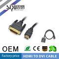 Sipu profesional fabricación chapado en oro hdmi a hdmi cable 1.3