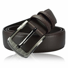 Classic Coffee Genuine Cow Leather Mens Belt Waistband