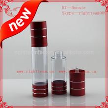 Airless pump cap bottles air tight Aluminum airless bottle