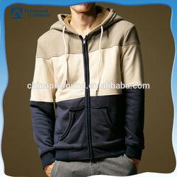 custom 3 colors combination thick fleece sweatshirt hoodies