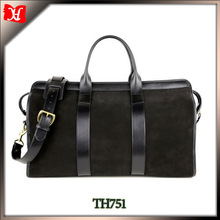 High quality nubuck leather shoulder bag real italian leather bag for men