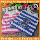 JML 2014 new design pink/blue stripes dog outerwear