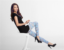 Fashion Design Thin Tights Sexy Patterned Opaque Pantyhose for women