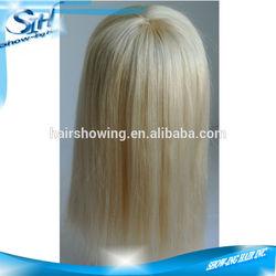 Fish net human grey hair wigs for women