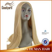 180 density virgin european natural hairline blonde human hair full lace wig