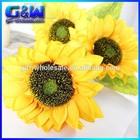 15cm Diameter Silk Artificial Sunflower Arrangements - 3 Sunflower Heads