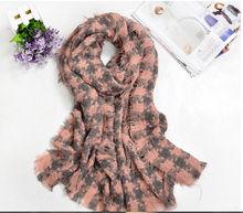 2014 women 100% viscose warm scarf ,fashion checked combination for 2014 winter