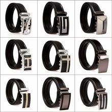 Men Cowhide Leather Casual Waist Belt Automatic Buckle